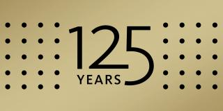 Text on gold background that reads: 125 Years