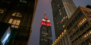 Nighttime photo of the Empire State Building