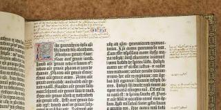 Photograph of the Gutenberg Bible
