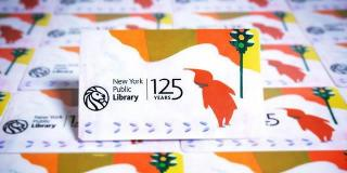 Snowy Day library card