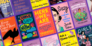 Book covers from NYPL's Essential Reads on Feminism list for teens