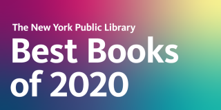 A rainbow gradient rectangle with white text that reads: The York Public Library Best Books of 2020