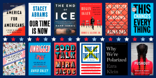 Book covers from NYPL's 2020 Election Reading List