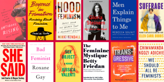 Book covers from NYPL's Essential Reads on Feminism list